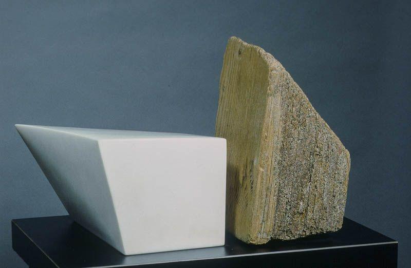 "Seastone III Marble, Wood: 11""x17""x12"""