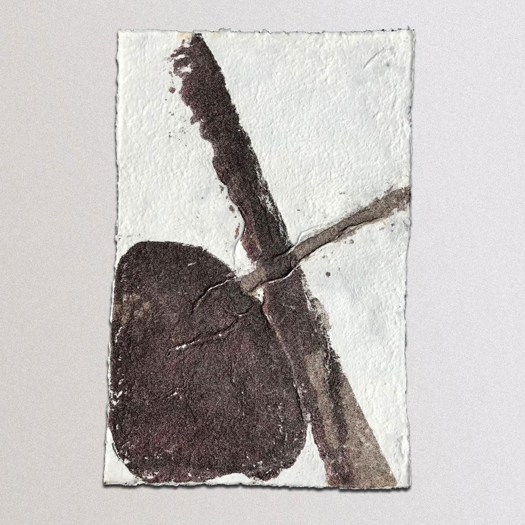 """Storm, Cotton linters, Sand: 17""""x26"""", 2015"""
