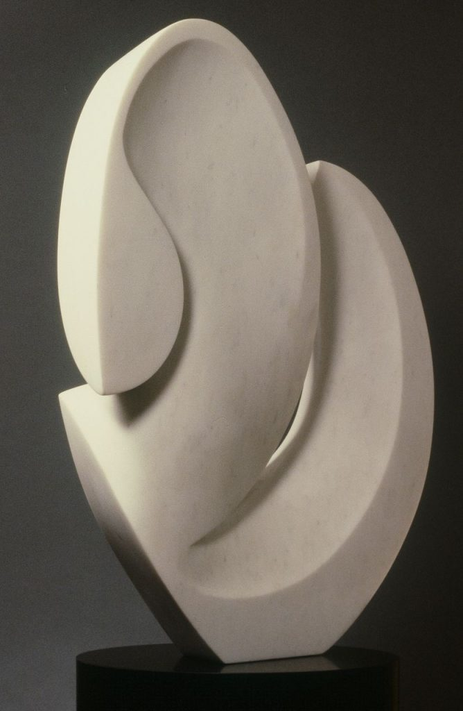 "Woman w/ a Bent Neck, Vermont Marble 18""x12""x4"""